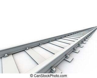 Railroad over white background