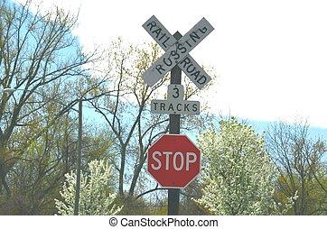 Railroad sign - Railroad crossing sign