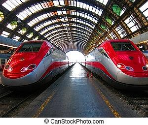 Railroad Station in MIlano, Italy