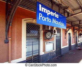 Railroad Station on Italian Coast