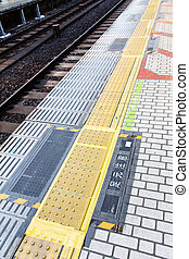 Railroad Station Platform, tokyo japan