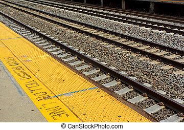 Railroad station railroad tracks cargo platform trains