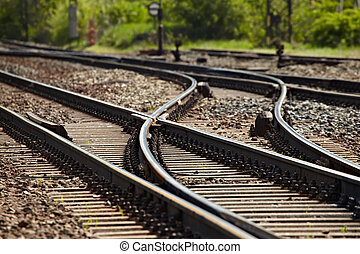Railroad - Rails and switches of a railroad line