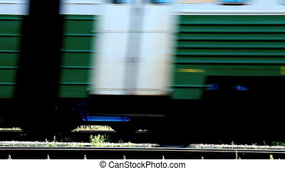 railroad  - moving railroad cars