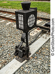 Railroad switch in station