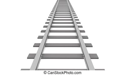 Railroad track animation   - Railroad track animation
