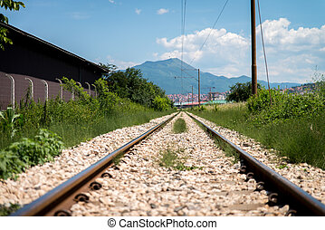 Railroad Track Goes Ahead