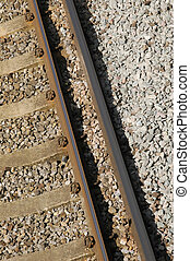 railroad track closeup from above