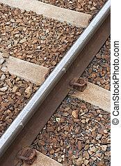 Railroad track - railroad track background