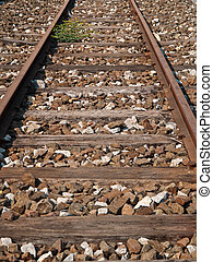 railroad track  - railroad track