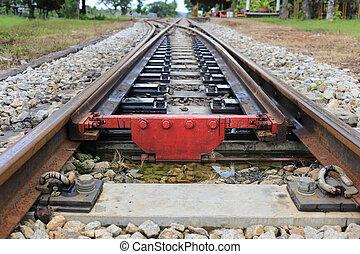 Railroad Track splitting lanes