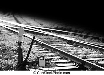 Railroad track switch background hd