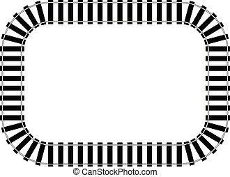 railroad track clip art vector and illustration 5 136 railroad rh canstockphoto com sg railroad track clip art black and white railroad track clip art free
