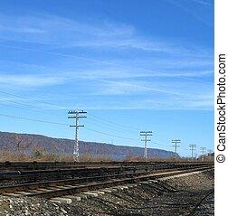 railroad tracks along Hudson River