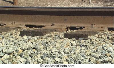Railroad Tracks CU - CU of railroad track
