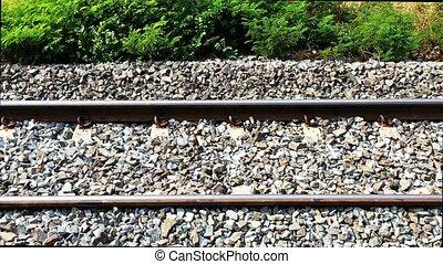 railroad tracks footage