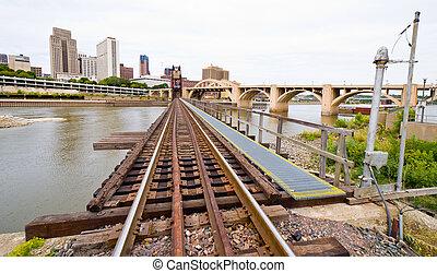 Railroad Tracks in Saint Paul