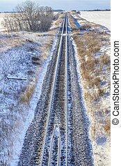 Railroad Tracks in Winter