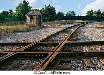 Railroad tracks - Older railroad tracks, beside a...