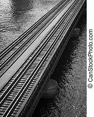Railroad tracks on St Johns River