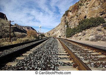 Railroad Tracks - Railroad tracks in rural Nevada