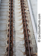Railroad train truck