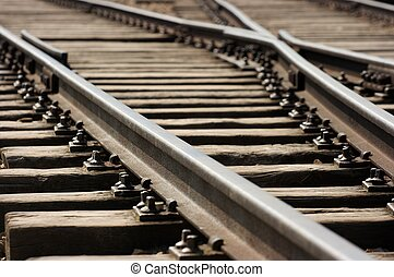 Rails - Closeup of an old railway junction
