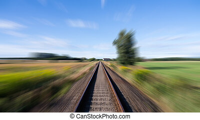 rails in landscape