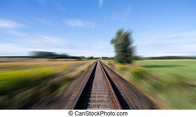 rails, landscape