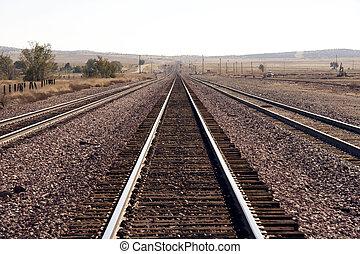rails - endless rails in the desert - Utah, USA