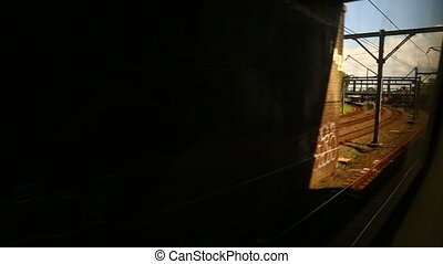 Railway track motion, train travel