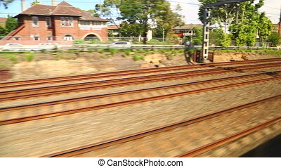 Rails - Railway track motion, train travel
