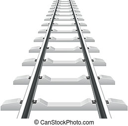 rails with concrete sleepers vector illustration isolated on...