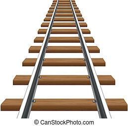 rails with wooden sleepers vector illustration isolated on...