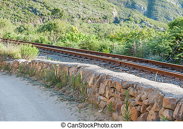 Railway and road in the Montagu Pass
