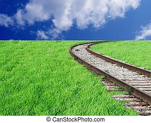 Railway and sky