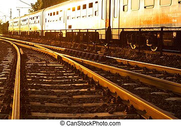 Railway at the golden hour