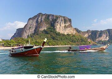 Railway beach in Thailand