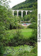 Railway bridge near St-Ursanne in Switzerland...