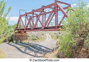 Railway bridge next to the Kromrivier Blockhouse