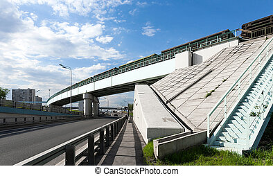 Railway bridge over the highway
