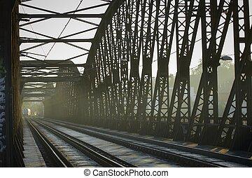 Railway Bridge - Old railway bridge, Prague