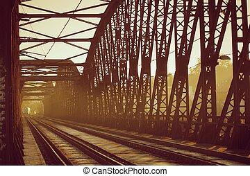 Railway Bridge - Old railway bridge - sunset light