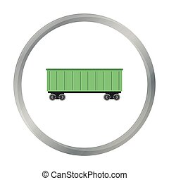 Railway carriage icon of vector illustration for web and mobile