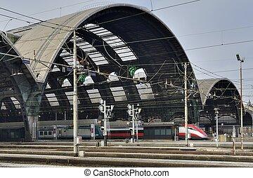 railway central station, Milan