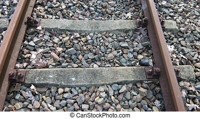 Railway Concept: Close-up Time Lapse of Rails