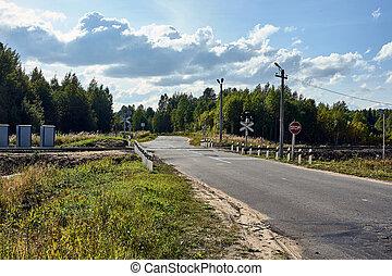 railway crossing in rural areas