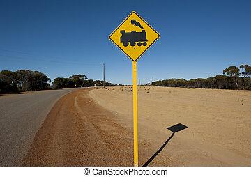 Railway crossing outback Australia