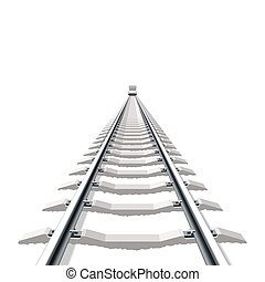 Detailed vector illustration of a railway