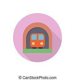 railway  flat color icon